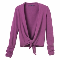 Organic Prana Ginger Wrap Sweater in Amethyst