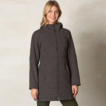 Eco Prana Inna Herringbone Jacket in Charcoal