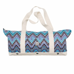 Hemp Prana June Yoga Tote in Sail Blue Tempo