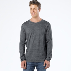 Organic Prana Keller Long Sleeve Crew in Grey
