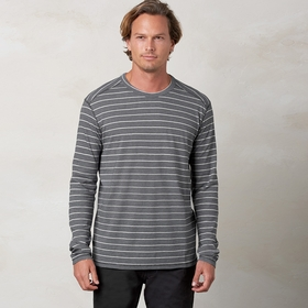 Organic Prana Keller Long Sleeve Crew in Black