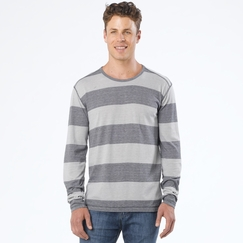 Organic Prana Keller Long Sleeve Crew in Coal