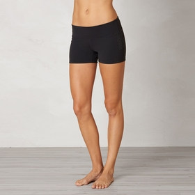 Prana Lennox Workout Short in Black Jacquard