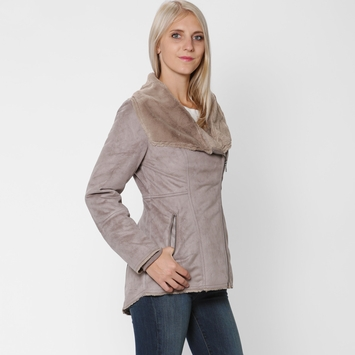 Prana Faux Shearling Lilith Jacket in Earth Grey