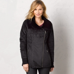 Prana Faux Shearling Lilith Jacket in Black