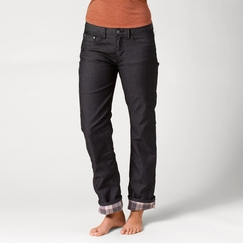 Prana Lined Boyfriend Jean in Black