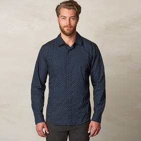 Organic Prana Lukas Poplin Long Sleeve Shirt in Nautical