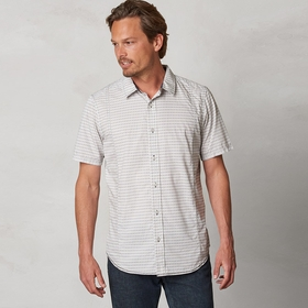 Organic Prana Lukas Poplin Short Sleeve Shirt in Coal