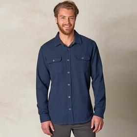 Organic Prana Lybeck Flannel Long Sleeve Shirt in Nautical