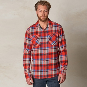 Organic Prana Lybeck Flannel Long Sleeve Shirt in Fireball