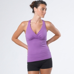 Prana Mahdia Kira Mesh Back Top in Dewberry
