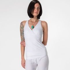 Prana Mahdia Kira Mesh Back Top in White