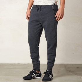 Organic Prana Maverik Sweatpant in Black Heather