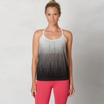 Eco SALE / Prana Meadow Draped Top in Black Cascade