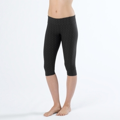 Prana Misty Knicker in Black Jacquard