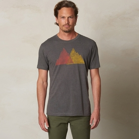 Organic Prana Mountain Slim T-Shirt in Charcoal Heather