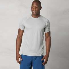 Prana Orion Short Sleeve Crew in Silver