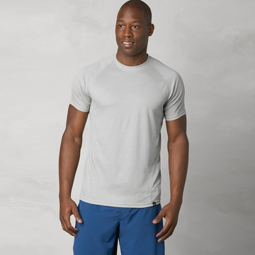 Prana Orion Short Sleeve Crew ( Silver )
