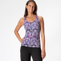 Eco Prana Phoebe Top in Larkspur Ikat