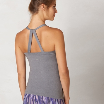 Prana Quinn Chakara Tank Top in Heather Grey