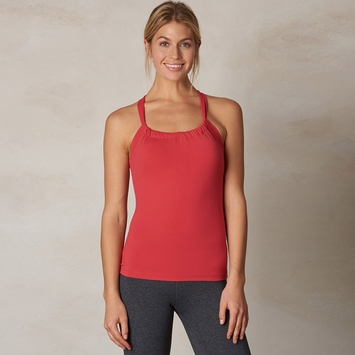 Prana Quinn Chakara Tank Top in Sunwashed Red