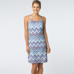 Eco Prana Quinn Dress in Sail Blue Tempo