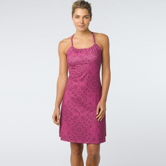 Eco Prana Quinn Dress in Fuchsia Mayan