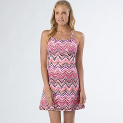 Eco Prana Quinn Dress in Boysenberry Tempo