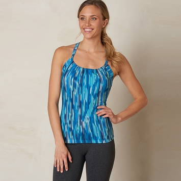 Eco Prana Printed Quinn Tank Top in Blue Rainblur