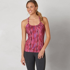 Eco Prana Quinn Top in Azalea Rainblur
