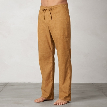 Hemp Prana Sutra Drawstring Pant in Dark Ginger