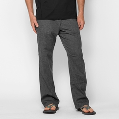 Hemp Prana Sutra Pant in Black Herringbone