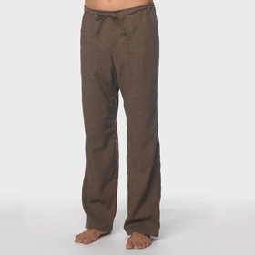 Hemp SALE / Prana Sutra Drawstring Pant in Brown Herringbone
