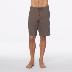 Hemp SALE / Prana Sutra Short in Brown Herringbone