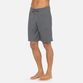 Hemp Prana Sutra Short in Black Herringbone
