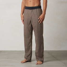 Hemp Prana Vaha Pant in Brown Herringbone