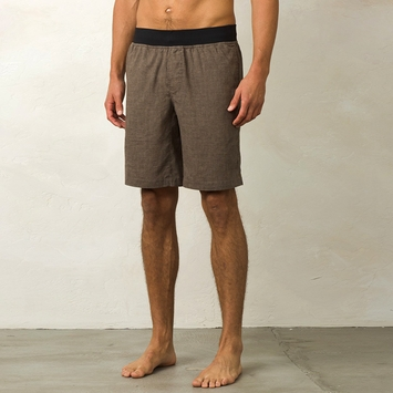 Hemp Prana Vaha Yoga Short in Brown Herringbone