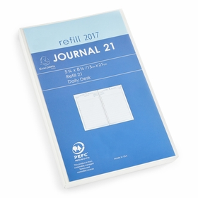 Exacompta 2017 Journal 21 Daily Planner Refill (Ref. #2201) (5.25 x 8.25)