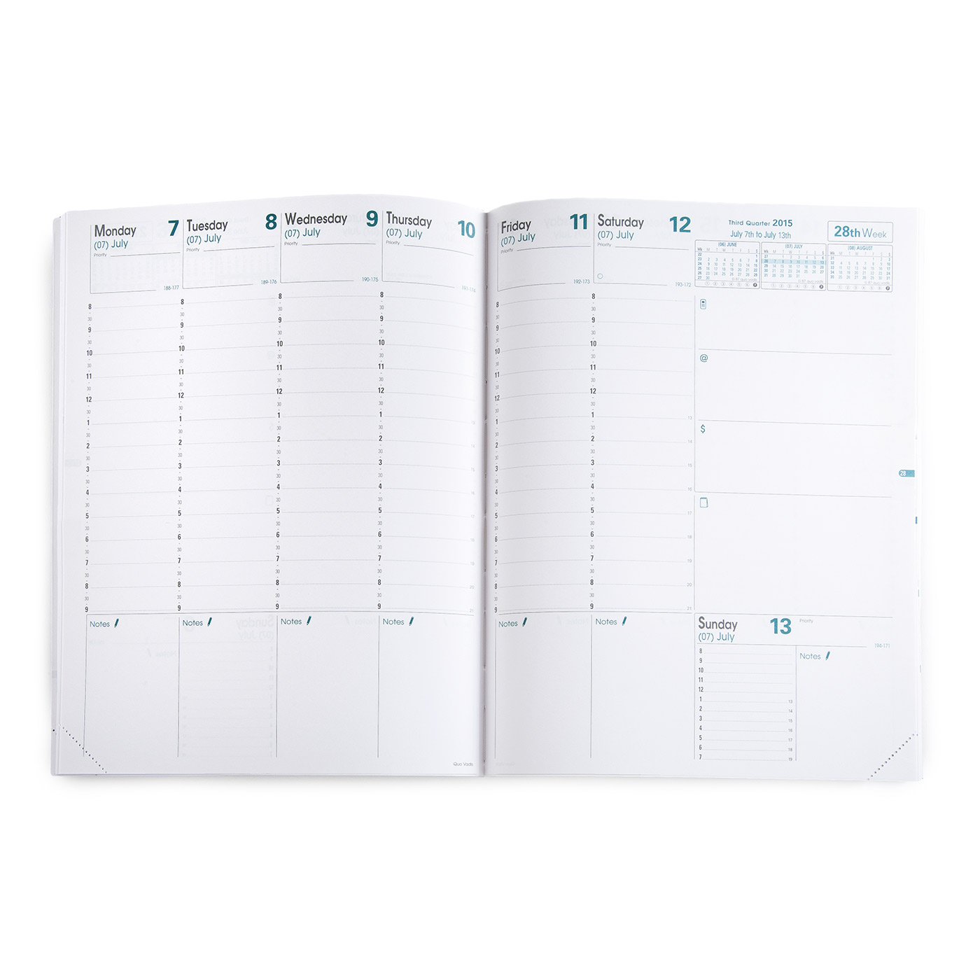 Quo Vadis 2017 Trinote Weekly Planner Refill 48 Ref