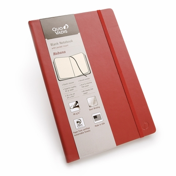 Quo Vadis Habana Large Plain Journal 85g (6.25 x 9.25) in Red