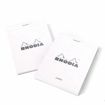 Rhodia ICE Top Staple Bound No.11 Notepad (3 x 4) in White