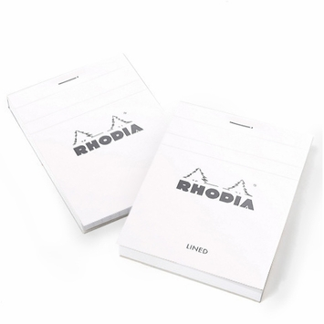 Rhodia ICE Top Staple Bound No.12 Notepad (3.375 x 4.75) in White