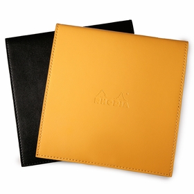 Rhodia Leatherette No. 210 Notepad Holder (8.25 x 8.25) in Orange [R118318]