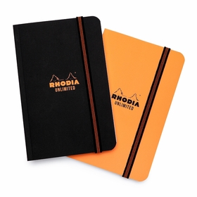 Rhodia Pocket Unlimited Notebook (3.5 x 5.5) in Black