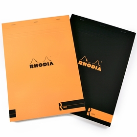 Rhodia Premium Staple Bound No. 18 Notepad (8.25 x 11.75) in Orange