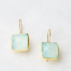 Roost Aqua Chalcedony Drop Earrings