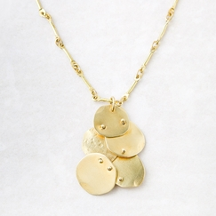 Roost Brass Disk Necklace