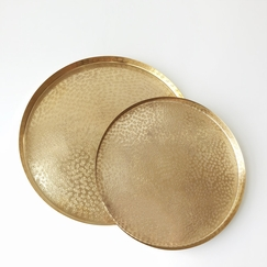 Roost Medium Brass Trays (Set of Two)