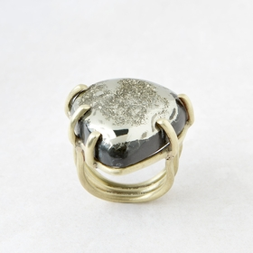 Roost Pyritized Ammonite Ring