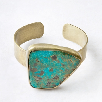 Roost Royston Turquoise & Brass Cuff
